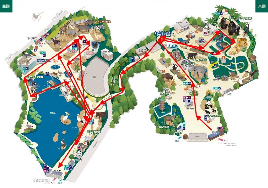 上野動物園 マップ