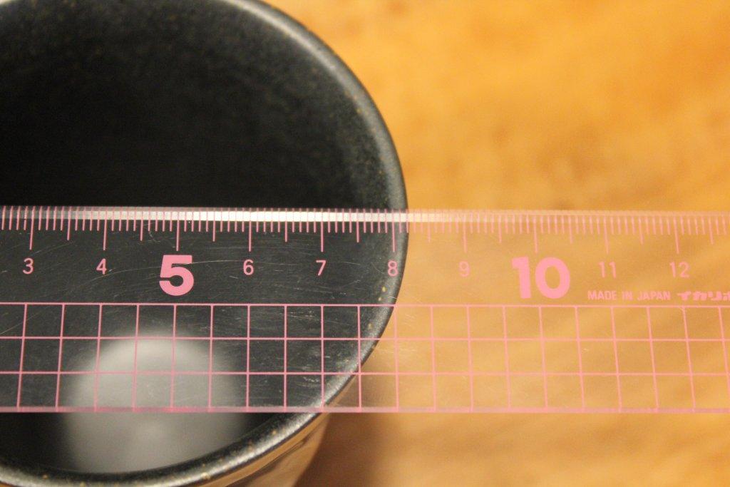 グラスの直径