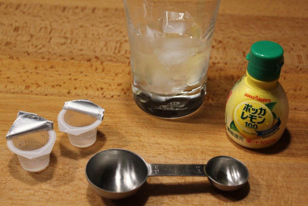 まんこい レモンサワー ガムシロとレモン汁