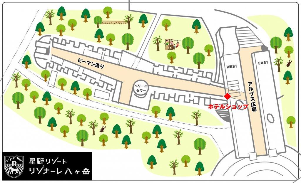 ホテルショップ 地図
