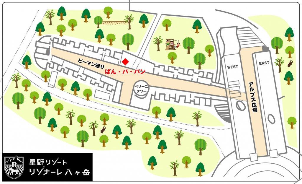 ぱん・パ・パン 地図