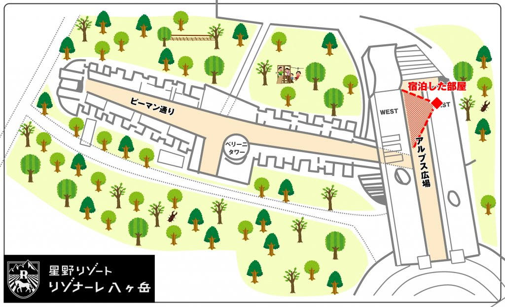ホテル棟の地図