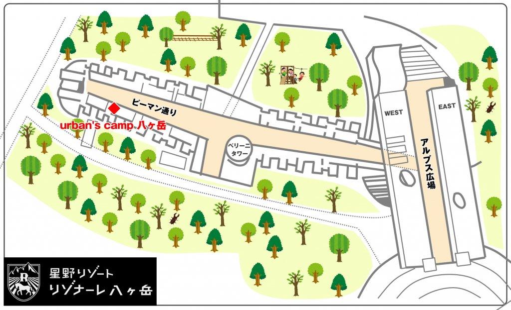 urbans camp 八ヶ岳 地図