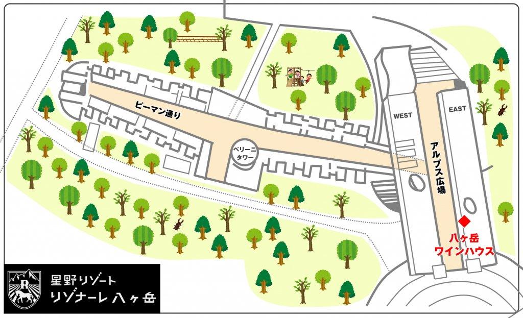 八ヶ岳ワインハウス 地図